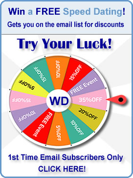 Click here to Signup and SPIN for a chance to win a FREE Speed Dating Event!